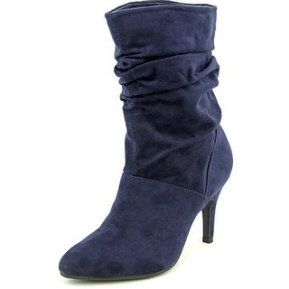 Style & Co Adelay Women Pointed Toe Synthetic Blue Mid Calf Boot