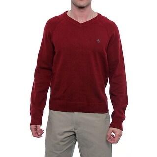 Original Penguin Long Sleeve V-Neck Sweater Men Regular Sweater Top