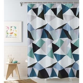Traingle Geometric 13-piece Shower Curtain Set