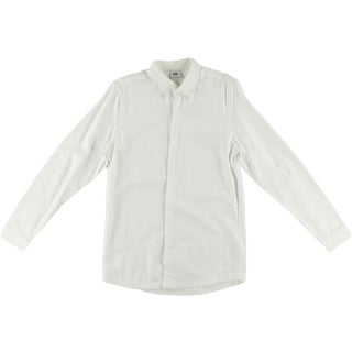 Chapter Mens Tencel Long Sleeves Button-Down Shirt - S