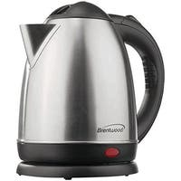 BRENTWOOD BTWKT1780M 1.5-liter Stainless Steel Electric Cordless Tea Kettle