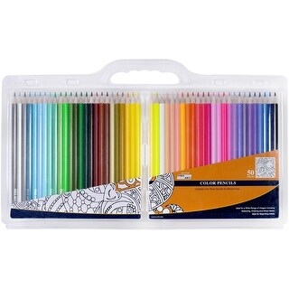 Pro Art Color Pencil Set Clam Pack 50pc-Assorted Colors
