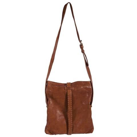 Scully Western Handbag Womens Crossbody Snap 11 x 13 x 1 Brown - 11 x 13 x 1