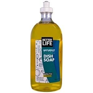 Better Life Dish Soap - Lemon Mint - 22 fl oz - 6 Pack