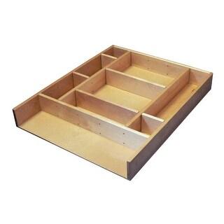 "Rev-A-Shelf LD-4CT15-1 LD-4CT Series 2.5"" Deep Wood Drawer Organizer Kit 15 - Natural Wood - N/A"