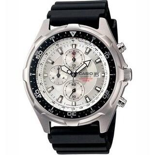 Casio Men's Amw330-7Av Stainless Steel Watch With Black Resin Strap