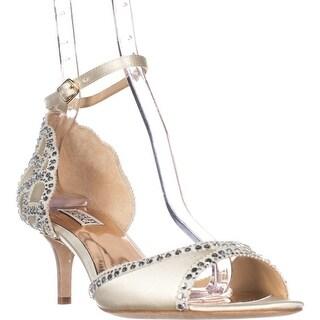 Badgley Mischka Gillian Ankle Strap Dress Sandals, Ivory