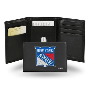 4 Black And White NHL New York Rangers Embroidered Trifold Wallet N A