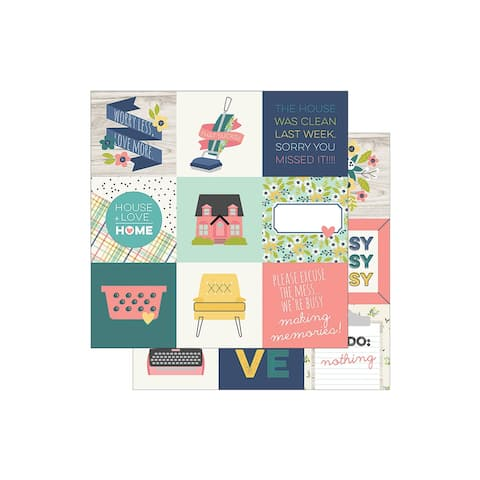7811 simple stories domestic bliss paper 12x12 elem 4x4