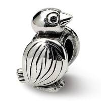 Sterling Silver Reflections Bird Bead (4mm Diameter Hole)