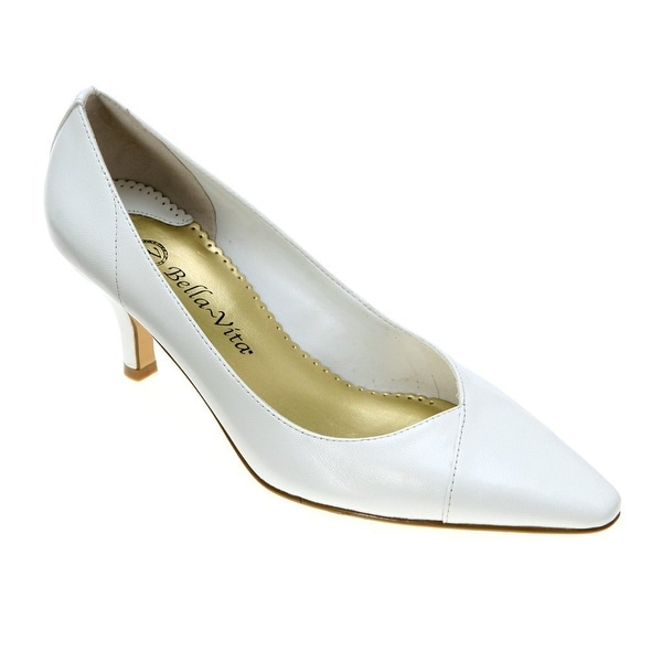 Bella Vita NEW White Women's Shoes Size 7WW Wow Kitten Heel Pump