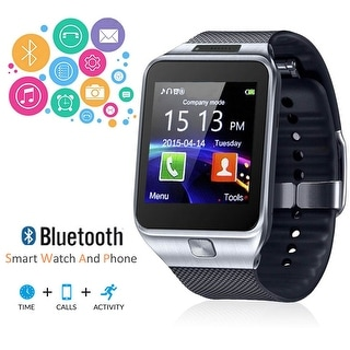 Indigi® 2-in-1 Smart Watch + Phone [ Bluetooth Sync + Wrist Camera + Messages ]