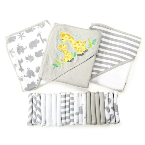 Spasilk 23 Piece Bath Hooded Towel Washcloth Giftset