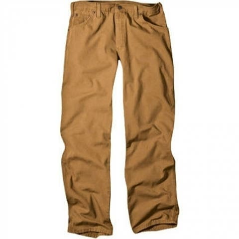 """Dickies 1939RBD3630 Men's Relaxed Fit Carpenter Duck Jeans, 36"""" x 30"""", Brown"""