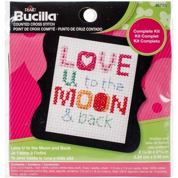 Shop Bucilla 45733 Counted Cross Stitch Beginner Stitchery Mini Kit