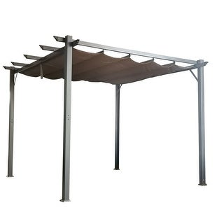 Cloud Mountain Patio Pergola Flat Hanging KD Tent Retractable Gazebo for Outdoor Garden or Deck