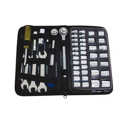 Toolbasix JL10008A Socket & Wrench Set, 51 Pieces