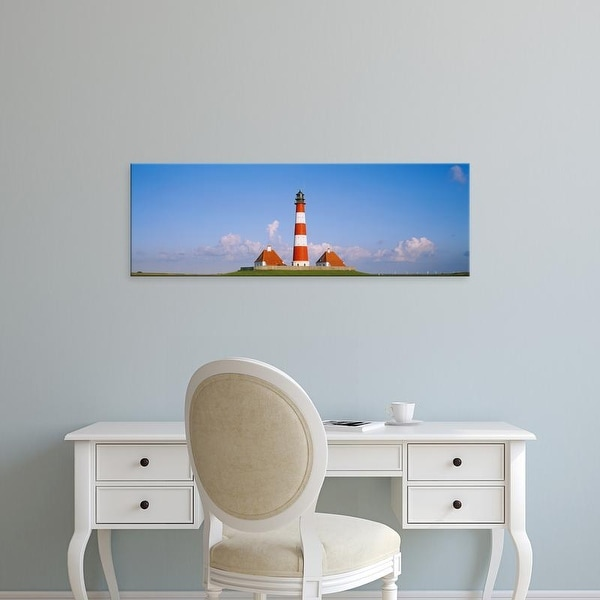 Easy Art Prints Panoramic Images's 'Lighthouse on a landscape, Westerhever Lighthouse, Schleswig