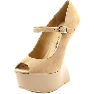 Chinese Laundry China Doll Women Open Toe Suede Nude Platform Heel