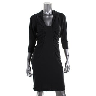 Catherine Malandrino Womens Wool Ruched Party Dress - S