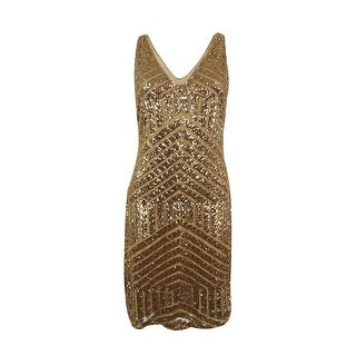 Ralph Lauren Women's Sleeveless Sequined Dress - white shine