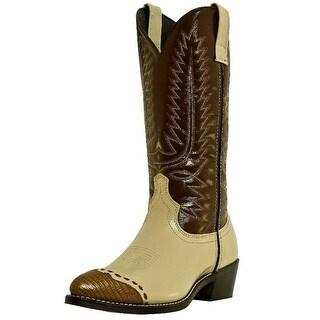 Laredo Western Boots Mens Flagstaff Faux Lizard Wingtip Bone 61161