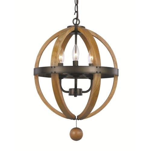 Trans Globe Lighting 70600 Forest Home 3 Light Globe Pendant