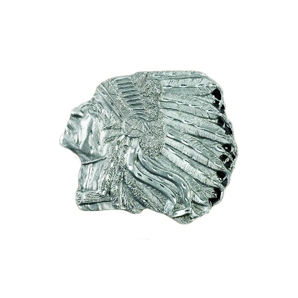 American Indian Head Belt Buckle - One size