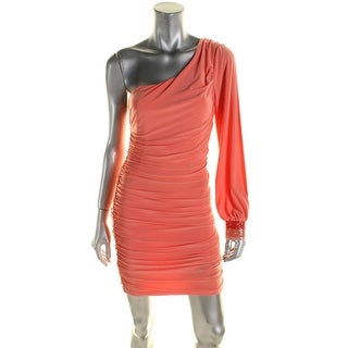 City Studio Womens Formal Dress Solid One Shoulder - s