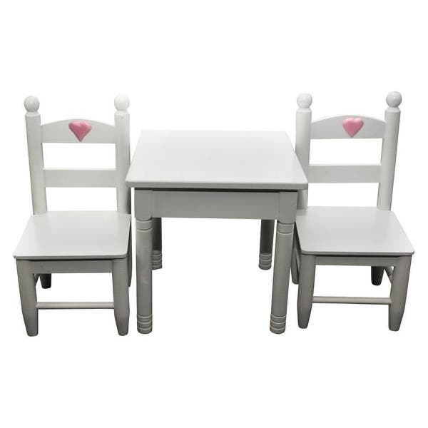 Astounding White Wooden Table 2 Chairs Furniture Fits 18 Inch American Girl Dolls Machost Co Dining Chair Design Ideas Machostcouk