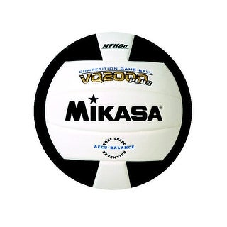 Mikasa VQ 2000 NFHS Volleyball, Black/White