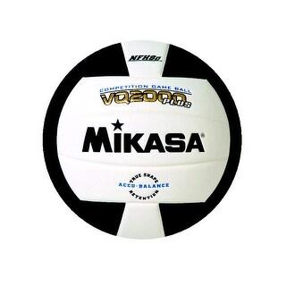Mikasa VQ 2000 NFHS Volleyball, Black/White