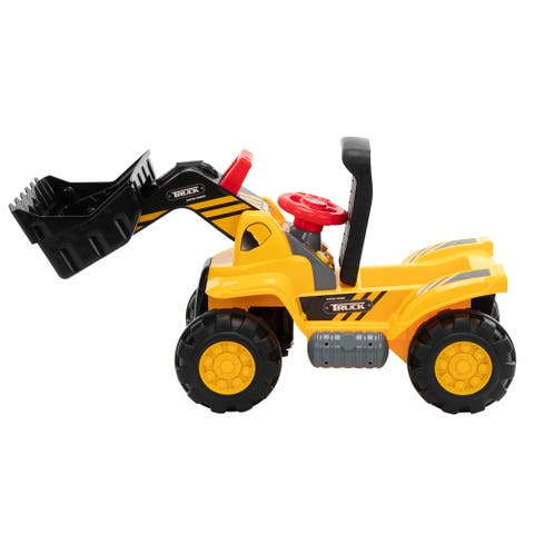 """Ride On Bulldozer, Outdoor Digger Scooper Pulling Cart - 7'6"""" x 9'6"""""""