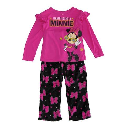 Disney Big Girls Pink Minnie Mouse 2Pc Pajama