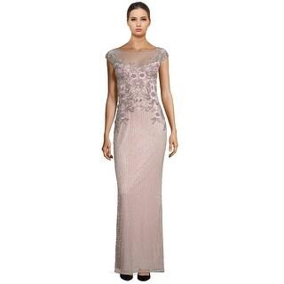 Parker Black Allie Sequin Embellished Cap Sleeve Evening Gown Dress - 6