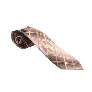 John Ashford Orange Nickel Grid Tie OS