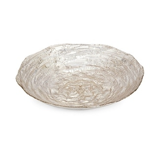IMAX Home 83910  Brandi Glass Decorative Plate - Gold