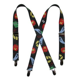 CTM® Kids' Halloween Print Holiday Suspenders - Black - One Size