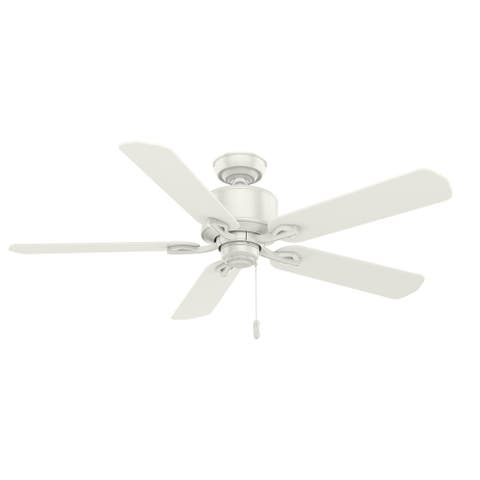 "Casablanca 54"" Compass Point Damp Rated Ceiling Fan and Pull Chain"