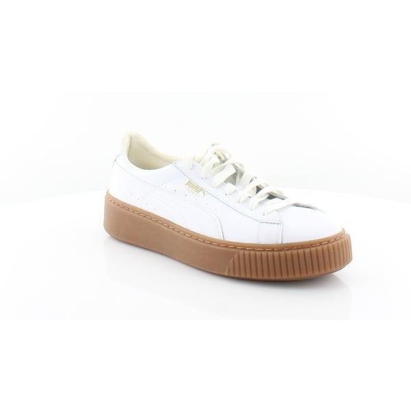 c25c1973de7d Puma Suede Platform Core Women  x27 s Fashion Sneakers Puma White-Puma White