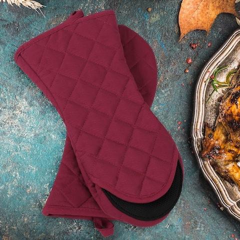 Canvas Oven Mitts Toaster Non-slip Gloves 1 Pair