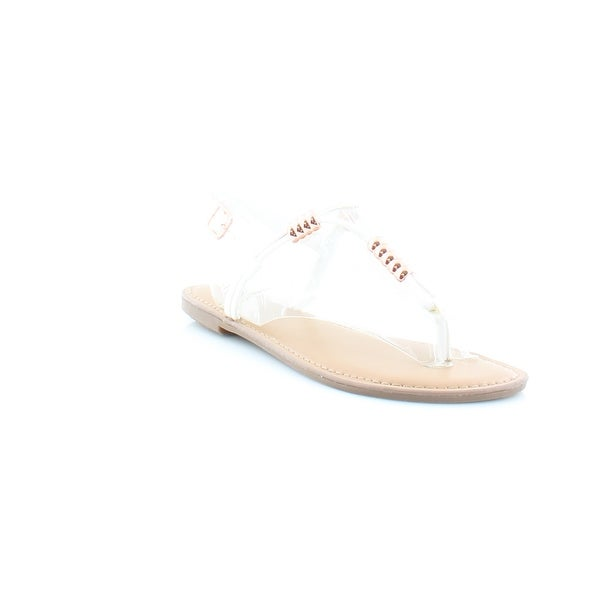 Bar III Vortex Women's Sandals & Flip Flops White - 9