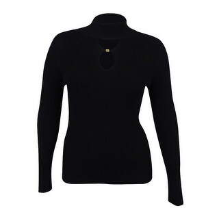 INC Inernational Concepts Women's Double-Keyhole Sweater