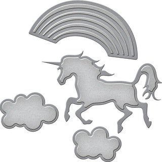 Spellbinders Shapeabilities Die D-Lites-Unicorn Fantasy