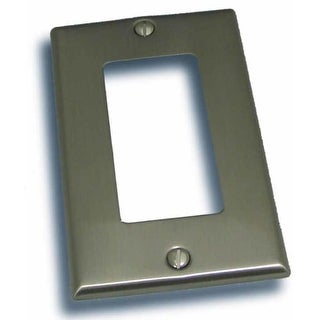 """Residential Essentials 10815 4.5"""" X 2.75"""" Single Rocker Switch Plate Featuring a Rustic / Country Theme (Option: Nickel Finish)"""