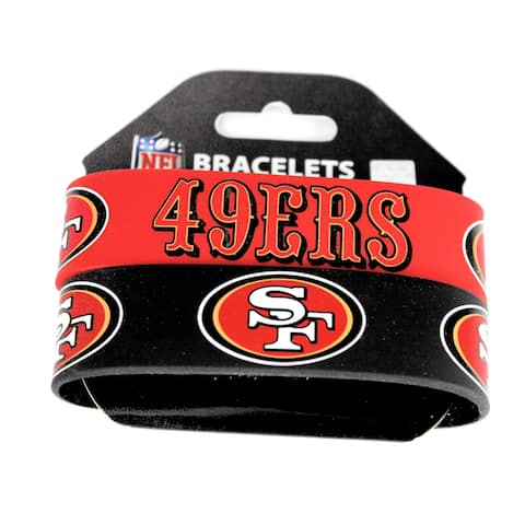 "Aminco San Francisco 49ers Rubber Wristbands (Set of 2) - 1""W & 8"" round"