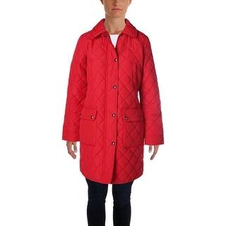 Lauren Ralph Lauren Womens Coat Quilted Solid