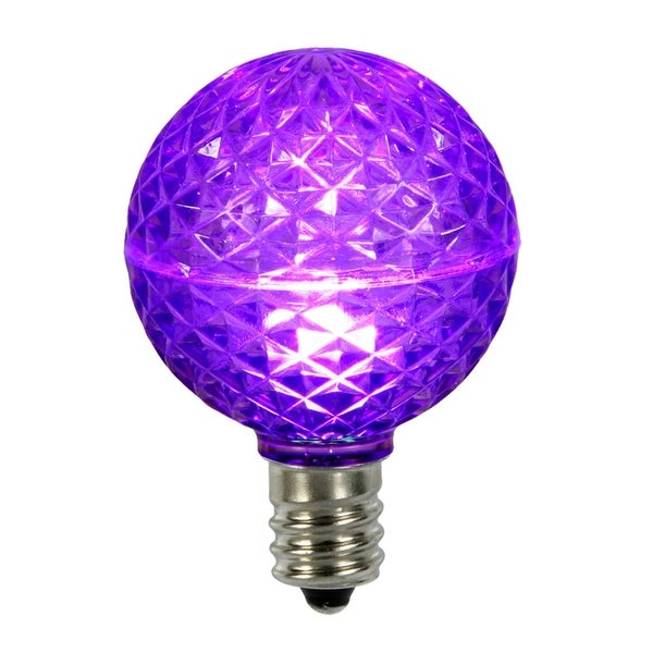 Club Pack of 25 LED G50 Purple Replacement Christmas Light Bulbs - E17 Base