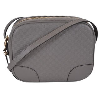"Link to Gucci 449413 Grey Leather Micro GG Guccissima BREE Crossbody Purse Bag - 8.5"" x 7"" x 4"" Similar Items in Shop By Style"