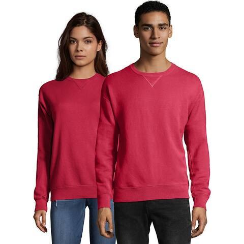 Hanes Men's ComfortWash Garment Dyed Fleece Sweatshirt - Color - Crimson Fall - Size - L